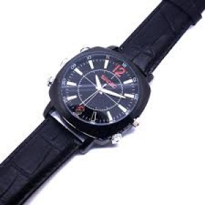 Camera ngụy trang đồng hồ dây da DH01S
